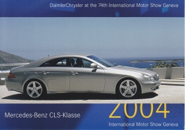 Mercedes-Benz CLS-Class, A6-size postcard, Geneva 2004