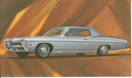 Impala Custom Coupe, US postcard, standard size, 1968