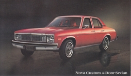 Nova Custom 4-Door Sedan, US postcard, standard size, 1978