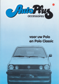 Polo accessories (Zubehör) brochure, 4 pages,  A4-size, Dutch language, 05/1983