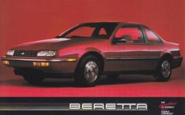 Beretta Coupe, US postcard, standard size, 1988