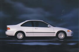 Civic EX Coupe, US postcard, continental size, 1993, # ZO313