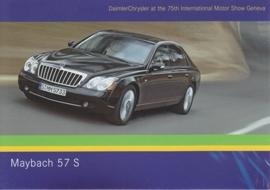 Maybach 57 S, A6-size postcard, Geneva 2005