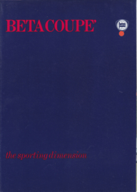 Beta Coupe brochure, A4-size, 8 pages, about 1976, English language