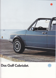 Golf Cabriolet brochure, A4-size, 16 pages, German language, 07/1986 (+ specs. folder)