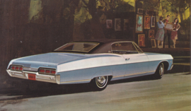 Caprice Custom Coupe, US postcard, standard size, 1967