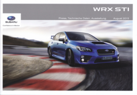 WRX STI prices & specifications brochure, 12 pages, German language, 10/2015