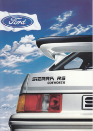 Ford Sierra RS Cosworth brochure, 6 pages, 3/1986, Dutch language