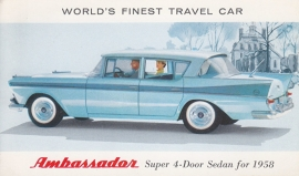 Super 4-Door Sedan, US postcard, standard size, 1958, # AM-58-6516 F
