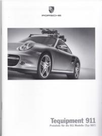 911 Tequipment (997) pricelist brochure, 48 pages, 10/2006, German