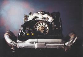 Genuine parts - complete 911 engine postcard,  DIN A6-size, issued mid 1990s