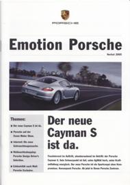 Emotion Porsche Autumn 2005 with Cayman S, 20 pages, 11/2005, German language
