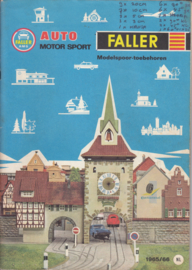 Faller Auto Motor Sport & Model Train accessories brochure, 48 pages, 1965/66, Dutch language