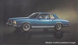 Monte Carlo Landau Coupe, US postcard, standard size, 1978