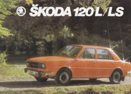 120 L/LS Sedan leaflet, 2 pages, English language, about 1983