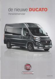 Ducato passenger Van brochure, 32 pages, 01/2015, Dutch language