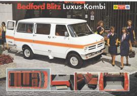 Blitz Luxus-Kombi Passenger Van leaflet, 2 pages, 11/1976, German language