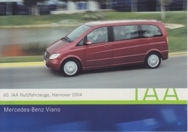 Mercedes-Benz Viano, A6-size postcard, IAA Hannover 2004