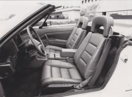 Cadillac Allanté Convertible interior (USA, 1987)