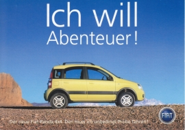 Panda 4x4, A6-size postcard, German language,