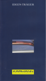 Roadster Concept Convertible by Karmann brochure, 8 pages, 09/1991, 2 languages