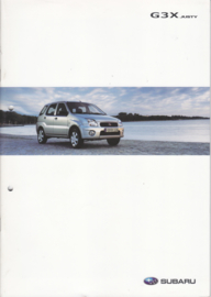 G3X Justy brochure, 24 pages, German language, 09/2005