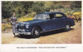Pathfinder 4-door Saloon, standard-size postcard, English language, end 1950s