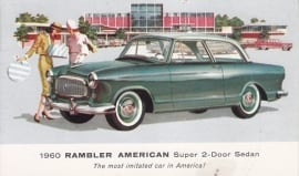 American Super 2-Door Sedan, US postcard, standard size, 1960, # AM-60-8037A