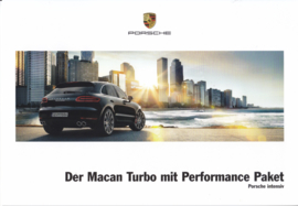 Macan Turbo Performance Paket brochure, 6 pages, 09/2016, German