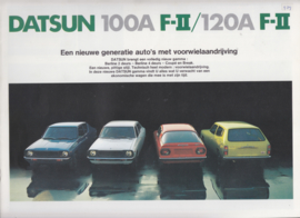 100A & 120A FII range brochure, 8 pages, Dutch language, 1/1976, Belgium