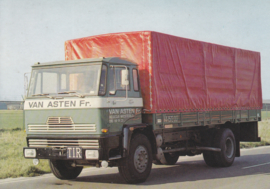 DAF truck with canopy top, DIN A6-size postcard, Dutch issue
