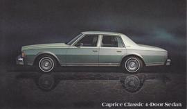 Caprice Classic 4-Door Sedan, US postcard, standard size, 1978