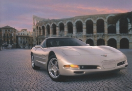 Corvette C5 Coupe 1999, A6 size postcard, 100 years of Chevrolet by GM Europe, 2011