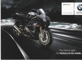 BMW S 1000 RR, postcard (A6), about 2012, English language