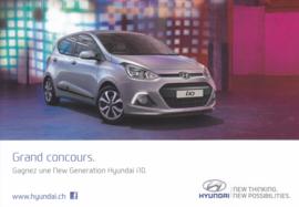 i 10 Hatchback model, DIN A6-size postcard, French postcard, 2014 (Swiss)