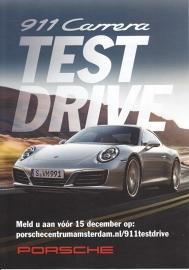 911 Carrera new model (991 II) leaflet, 2 pages, 2015, Dutch