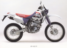 Honda XR 400 R cross postcard, 18 x 13 cm, no text on reverse, about 1994