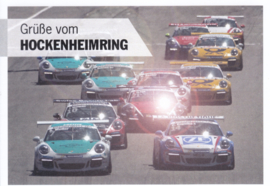 Carrera Cup factory issued postcard,  DIN A6-size, German