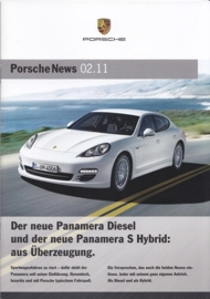 News 02/2011 with Panamera Diesel & S Hybrid, 28 pages, 05/11, German language