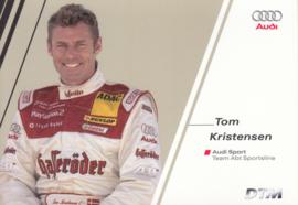 DTM racing driver Tom Kristensen, unsigned postcard 2004 season, German language