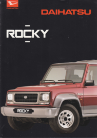 Rocky 4x4 brochure, 6 pages, about 1995, A4-size, Dutch language