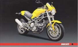Ducati motorcycle, continental size postcard, English language