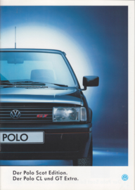 Polo CL & GT Extra Scot Edition brochure, 20 pages,  A4-size, German language, 08/1993