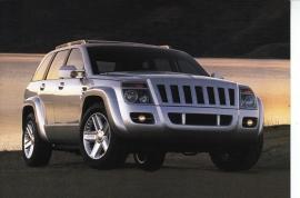 Jeep Commander, A6-size postcard, NAIAS 1999, English