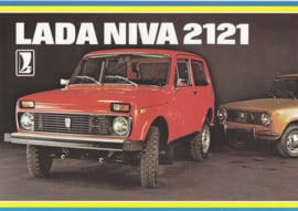 Niva 2121 4x4 brochure, 8 pages, about 1978, Dutch language (Belgium)