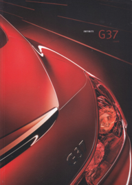 G37 Coupé brochure, 42 pages, Dutch language, 12/2008