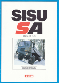 Sisu SA 150 (4x4) brochure, 8 pages, A4-size, 09/1983, Finnish language