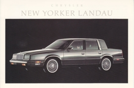 New Yorker Landau, US postcard, continental size, 1988