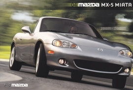 MX-5 Miata, 2004, US postcard, A5-size