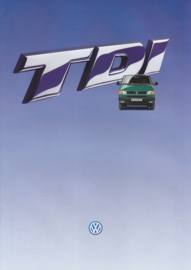 Transporter TDi 2.5 liter brochure, 6 pages,  A4-size, Dutch language, 1995